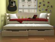 Детская кровать из дерева Тедди Дуо с выдвижным этажом ТМ Луна