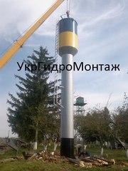 Водонапорные башни ВБР 100-160 Изготовление,  монтаж, цена по Украине