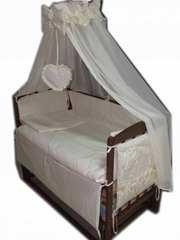 Кроватка маятник,  ортопедический матрас,  постель.