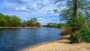 База отдыха на берегу реки Северский Донец